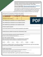 1 Recursos. 1 Convierte fracciones decimales a notación decimal y viceversa