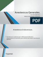 anestésicos