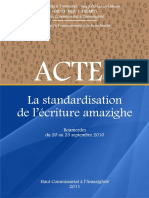 Standardisation de l ecriture amazighe