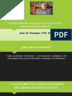 COMPENDIO DE ANÁLISIS INSTITUCIONAL- GREGORIO BAREMBLITT