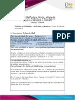 Guia de actividades y Rúbrica de evaluación -  paso 4- elaborar una matriz y con base a ella realiza el análisis argumentativo