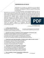 COMPRENSIÓN DE LECTURA 06 PREPÁRATE