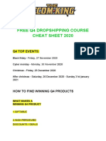 FREE Q4 DROPSHIPPING COURSE
