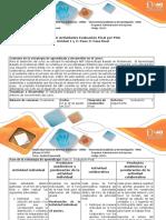 Guia de actividades y rubrica de evaluación. Pase 3 Fase Final