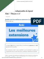 Les extensions indispensables du logiciel Anki ! (Version 2.0)