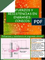 Esfuerzos y resistencias en Engranes  Conicos