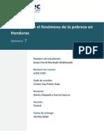 Ensayo Sobre Fenomeno de La Pobreza en Honduras