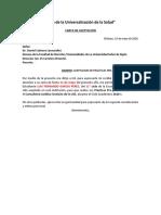 MODELO CARTA DE ACEPTACION