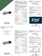 Manual de Instruções - Transmissor de Pressão Relativa - Novus TP 520.pdf
