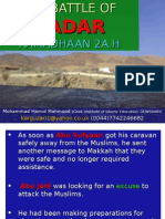 The Battle of Badar