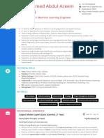 ML-DS Resume