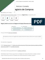 ESTADOS LIBROS ELECTRONICOS PLE REGISTRO DE COMPRAS