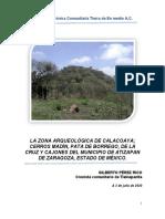 La Zona Arqueológica de calacoaya, Cerro Madín