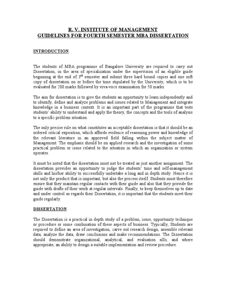 dissertation in mba