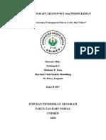 MAKALAH GEOGRAFI TRANSPORT dan PERMUKIMAN KEL. 3