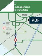 Plan de l'aménagement cyclable de transition