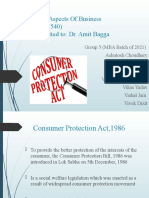 Consumer Protection Act and Competition Act_Group 5(MBA 2021)
