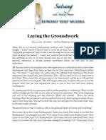Laying the Groundwork, by Ed Muzika