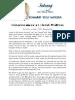 Consciousness is a Harsh Mistress, by Ed Muzika