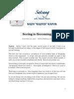Seeing is Becoming, by Rajiv Kapur