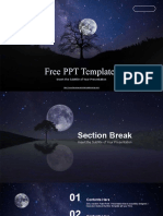 Night Sky Full Moon  - Free PowerPoint Template.pptx