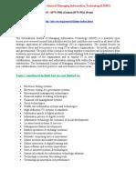 An International Journal Managing Information Technology(IJMIT)