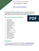 An International Journal of Soft Computing(IJSC)