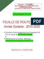 Chnoqiue LA CLASSE N° 07-FEUILLE DE ROUTE 3°AP - 2019-2020 - VERSION DU 27 JANVIER 2020 (1).pdf