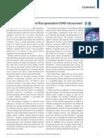 ¿Qué podemos esperar de las vacunas COVID-19 de primera generación?