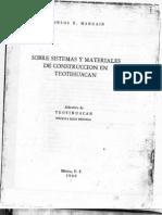 Sistemas y Materiales de Construcción en Teotihuacan [Margain, Carlos]