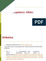 Overview of regulatory affairs