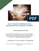 7 PRINCIPIOS PARA DISTINGUIR ENTRE  LA VERDAD Y EL ERROR (1)
