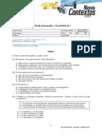 Teste - F10 - Determinismo e livre-arb+¡trio e a dimens+úo pessoal e social da +®tica