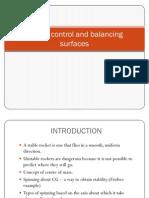 Rocket control and balancing surfaces