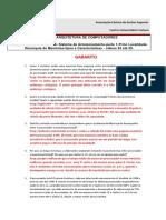 [ARQUITETURA DE COMPUTADORES – TEMA 6] Sistema de Armazenamento (parte 1), Princípio da Localidade, Hierarquia de Memórias (tipos e características) - vídeos 24 à 29