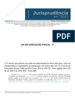Jurisprudencia em Teses 155 - Lei de Execucao Fiscal - II