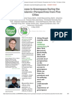 Enabling Access to Greenspace During the Covid-19 Pandemic—Perspectives from Five Cities – The Nature of Cities