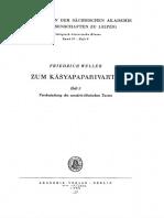 Zum Kāśyapaparivarta