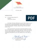 Gen Peay Resignation
