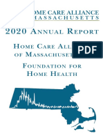 2020 Annual Report of the Home Care Alliance of Massachusetts and the Foundation for Home Health