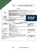 PLANEACIÓN SEMANAL DEL 5 AL 9 DE OCTUBRE DEL 2020