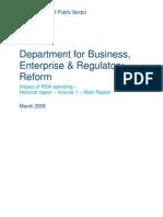 National Impact Evaluation of RDA Spending