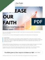 HOW TO INCREASE OUR FAITH _ PaulEChapman.com