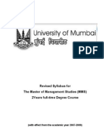 MMS-Detailed Complete Syllabus