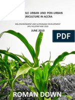 Sustainable Urban and Peri-Urban Agriculture in Accra, Roman Down Ashaiman