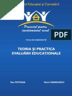 6752230 Dan Potolea Marin Manolescu Teoria Si Practica Evaluarii Education Ale
