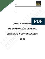 QUINTA JORNADA DE EVALUACIÓN GENERAL LEG 2020