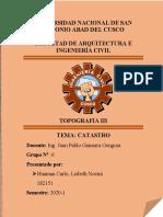 CATASTRO, GRUPO N°6