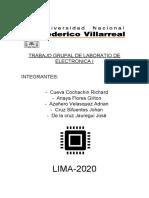 TRABAJO GRUPAL DE LABORATIO DE ELECTRONICA I
