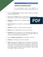 ACTIVIDADES DE GENERALIZACIÓN PARA LA ARTICULACIÓN DE LA /R/